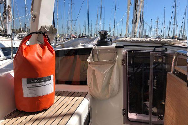 GRAB BAG for HERO liferaft, safety equipment, Jeanneau YACHT