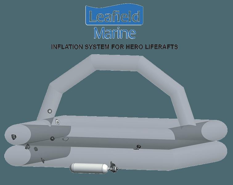 LEAFIELD inflation system for liferaft, A6 valve, A8 valve, inlet valve, gist inflation system