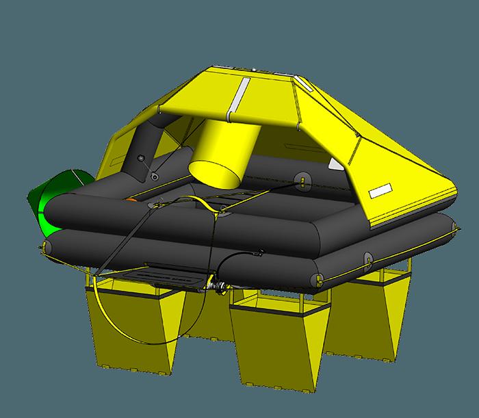 LIFERAFT 3D DRAWING, HERO LIFERAFT, RADEAU DE SURVIE